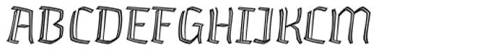 Whisky 1230 Inline Italic Font UPPERCASE