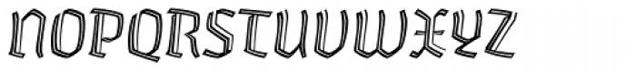 Whisky 1340 Inline Italic Font UPPERCASE