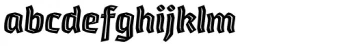 Whisky 1780 Inline Italic Font LOWERCASE