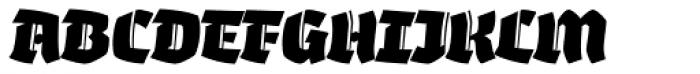 Whisky 1890 Italic Font UPPERCASE