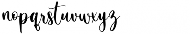 White Bowling Regular Font LOWERCASE