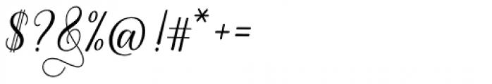 White Crystal Script Regular Font OTHER CHARS