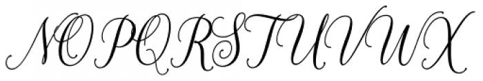 White Crystal Script Regular Font UPPERCASE