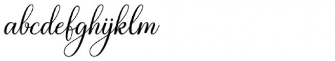 White Crystal Script Regular Font LOWERCASE