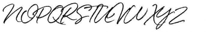 White Oleander Slanted Font UPPERCASE