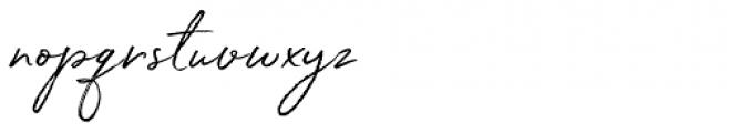 White Oleander Slanted Font LOWERCASE