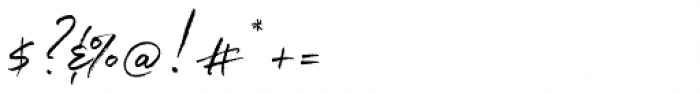 White Oleander Upright Font OTHER CHARS