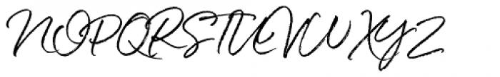 White Oleander Upright Font UPPERCASE