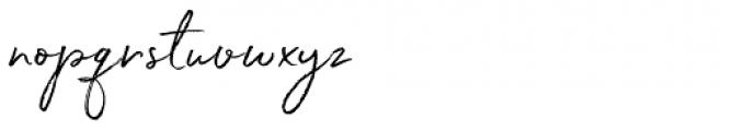 White Oleander Upright Font LOWERCASE