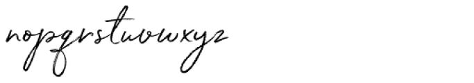 White Oleander Font LOWERCASE