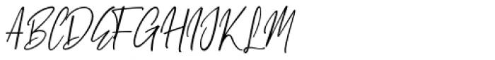 White Pen Regular Font UPPERCASE