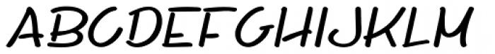 Whiteboard Modern Italic Font LOWERCASE