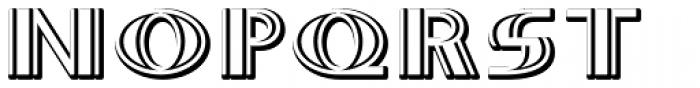 Whitehaven Embossed II Font LOWERCASE