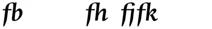 Whitenights Bold Italic Ligs Font UPPERCASE