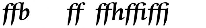 Whitenights Bold Italic Ligs Font LOWERCASE