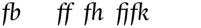 Whitenights Italic Ligs Font UPPERCASE