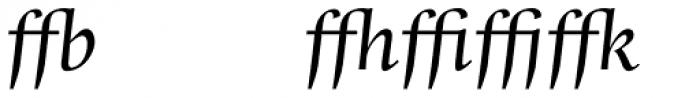 Whitenights Italic Ligs Font LOWERCASE