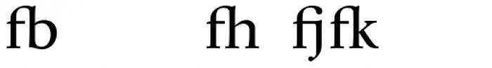 Whitenights Ligs Font UPPERCASE