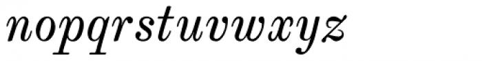 Whittington Italic Font LOWERCASE