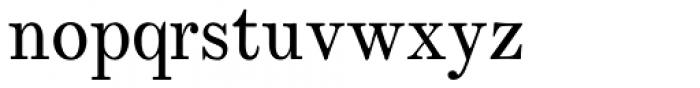 Whittington Regular Font LOWERCASE