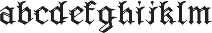 Wicked Olde English ttf (400) Font LOWERCASE