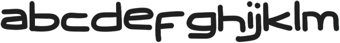 Wide West otf (400) Font LOWERCASE
