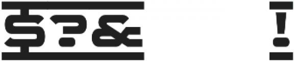 WideDisplay Bold Ribbon otf (700) Font OTHER CHARS