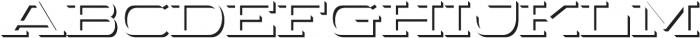 WideDisplay Bold Shadow otf (700) Font UPPERCASE