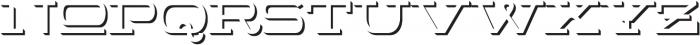 WideDisplay Bold Shadow otf (700) Font LOWERCASE