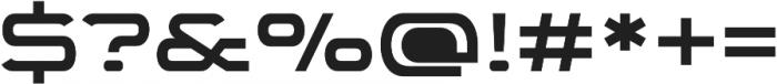WideDisplay Heavy otf (800) Font OTHER CHARS