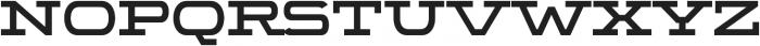 WideDisplay Heavy otf (800) Font UPPERCASE