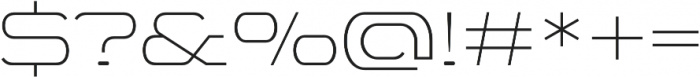 WideDisplay Light otf (300) Font OTHER CHARS