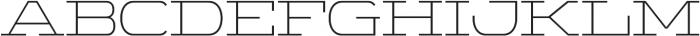 WideDisplay Light otf (300) Font UPPERCASE