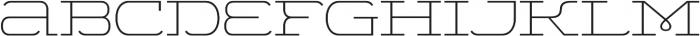 WideDisplay Light otf (300) Font LOWERCASE