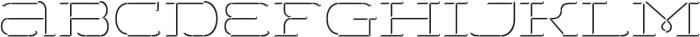 WideDisplay Regular 3DDown otf (400) Font LOWERCASE