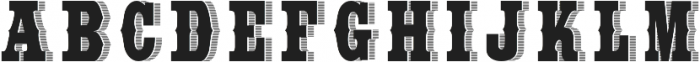 WideSaloon otf (400) Font UPPERCASE