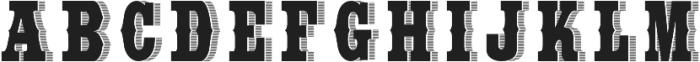 WideSaloon otf (400) Font LOWERCASE