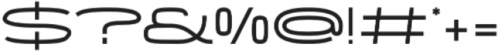 Wider otf (400) Font OTHER CHARS