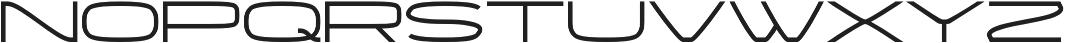 Wider otf (400) Font UPPERCASE