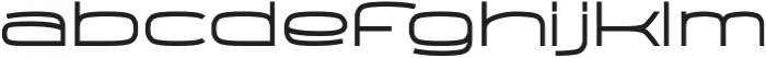 Wider otf (400) Font LOWERCASE
