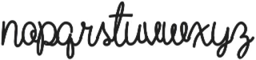 Wild Flower Bold otf (700) Font LOWERCASE