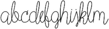 Wild Flower Regular otf (400) Font LOWERCASE