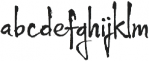 Wild Pen 5 otf (400) Font LOWERCASE