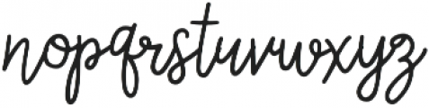 Wildflower Regular ttf (400) Font LOWERCASE