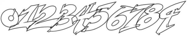 Wildstyler Line Regular otf (400) Font OTHER CHARS