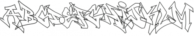 Wildstyler Line Regular otf (400) Font UPPERCASE