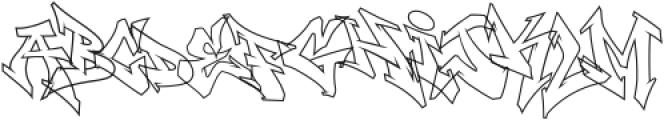 Wildstyler Line Regular otf (400) Font LOWERCASE