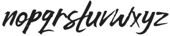 Wildwest Swash Regular otf (400) Font LOWERCASE
