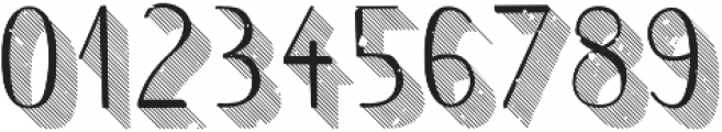 Wilhemina striped 3d grungy otf (400) Font OTHER CHARS