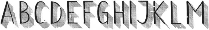 Wilhemina striped 3d grungy otf (400) Font UPPERCASE